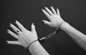 Gratefulpain hands in handcuffs